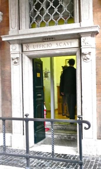 St. Peter's Scavi Entrance