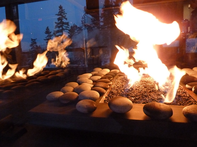 Scandinave Spa Fire, Whistler, BC