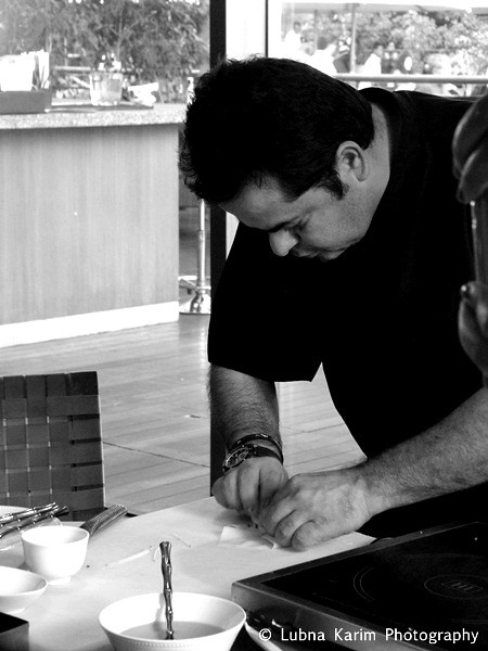 Chef in action....