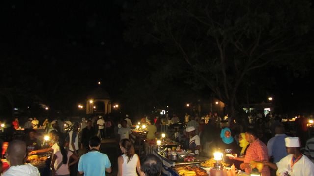Stone Town Night Market - dark yet functioning!