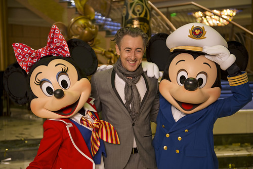 Alan Cumming, Minnie, and Mickey Mouse