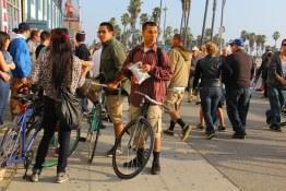 Venice Beach crowd.