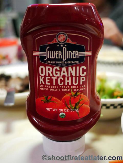 Silver Diner's organic ketchup