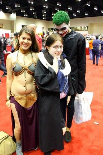 Slave Leia, Moaning Myrtle, Joker - MegaCon 2012