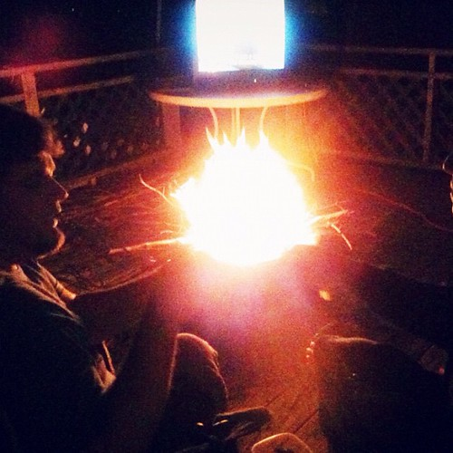 MacGuyver and fire.