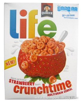 Quaker Life Strawberry Crunchtime Cereal