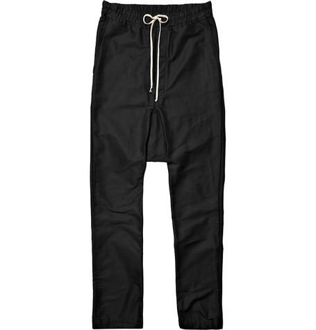 Rick Owens Black Drop-Crotch Trouseres