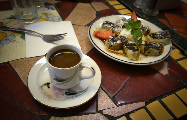 Mediterranean coffee & sweet in San Francisco