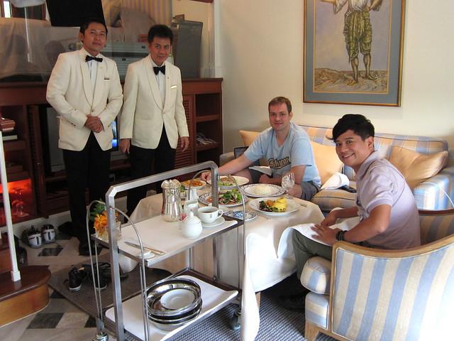 Room service at Mandarin Oriental Bangkok