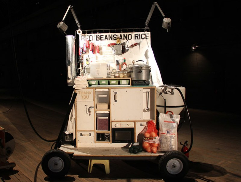 Tom Sachs Space Program Mars - Food Stall - Photo Designboom -