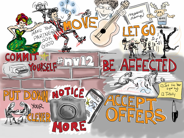 image from Giulia Forsythe from NorthernVoice improv session