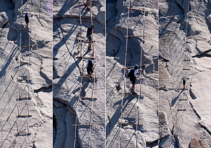 Descending Half Dome Cables