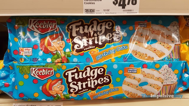 Keebler Limited Batch Birthday Cake Fudge Stripes Cookies