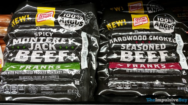 Oscar Meyer Premium Spicy Monterey Jack Beef Franks and Hardwood Smoked Seasoned Beef Franks