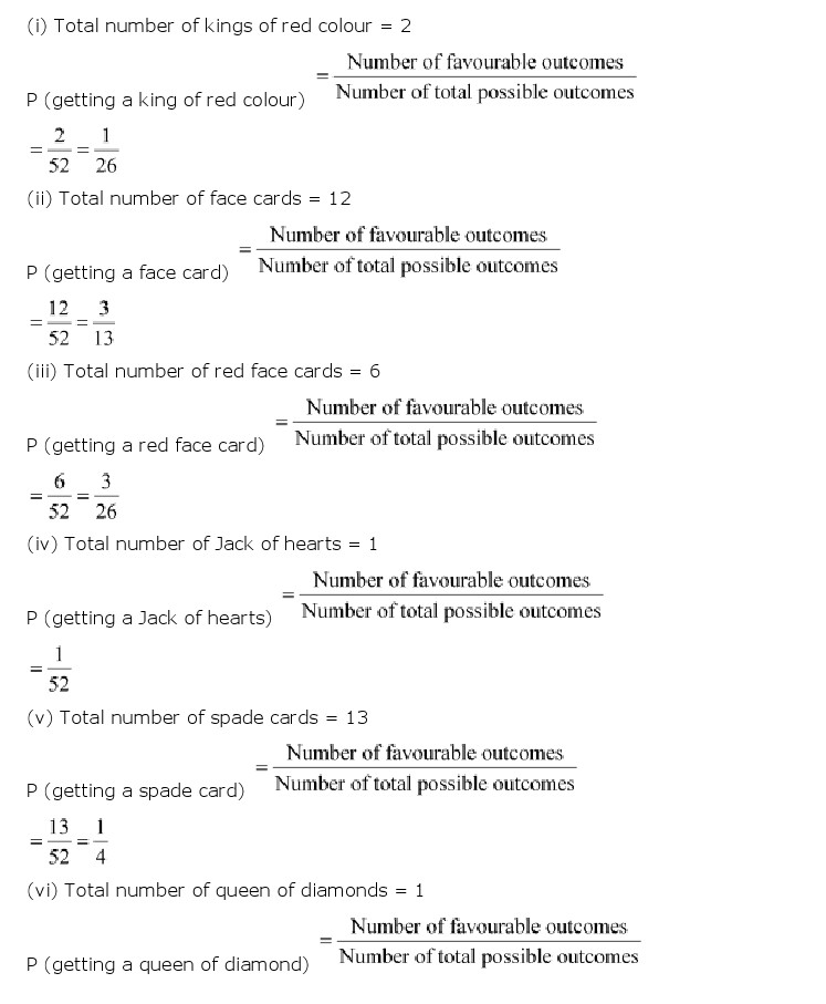 NCERT Solutions for Class 10th Maths: Chapter 15   Probability