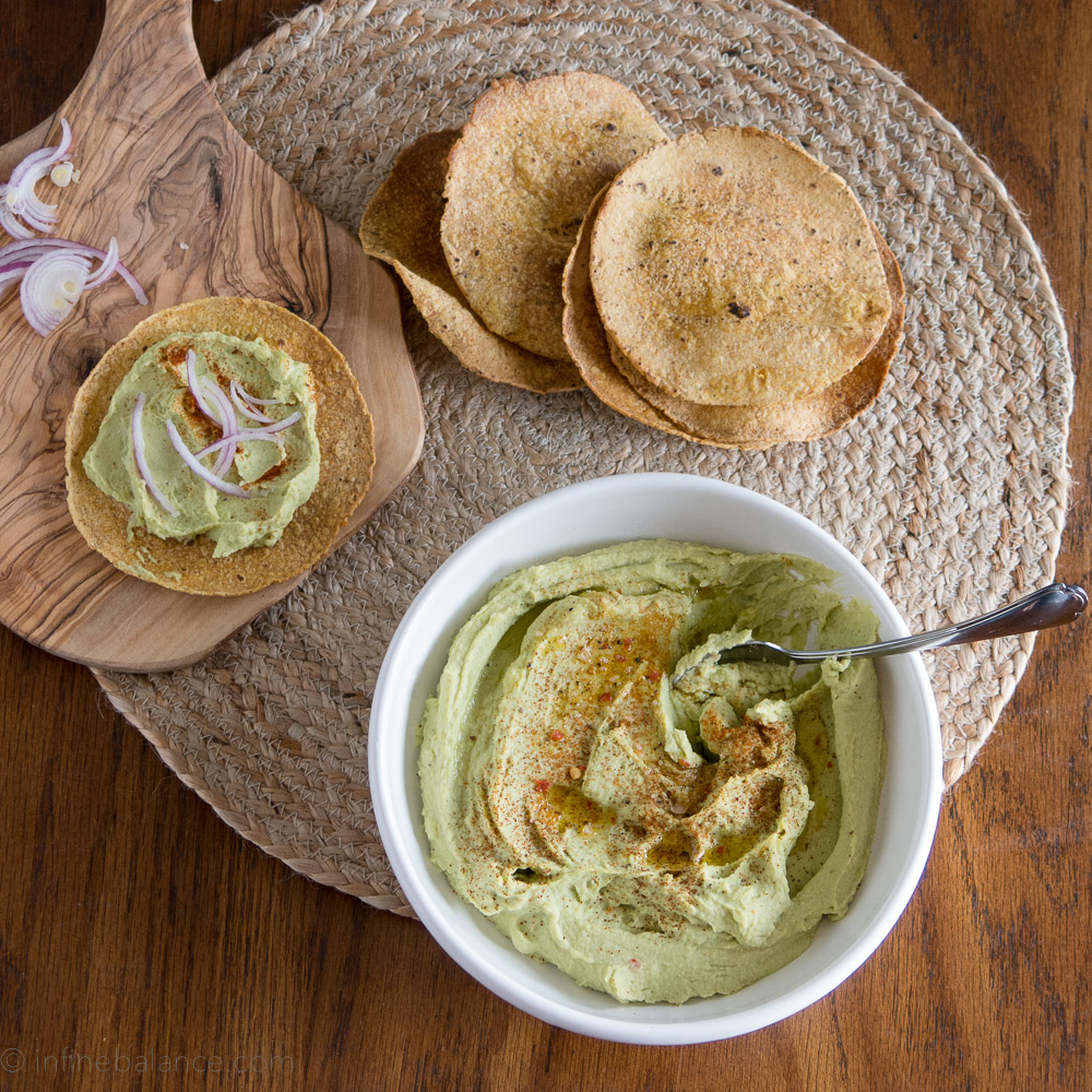 Fava Bean Hummus | infinebalance.com #recipe #vegan