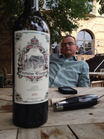 Carl Money and the 2011 Tempranillo
