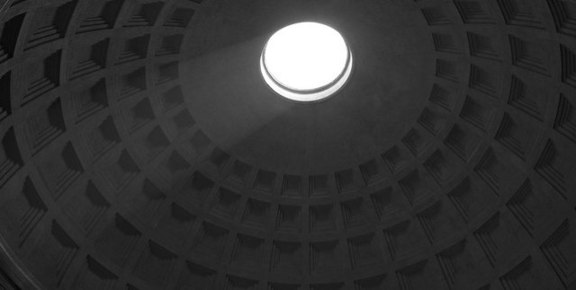 Light Through the Oculus (Pantheon/ Church of St. Mary and the Martyrs), Rome