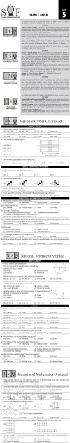 NCO, NSO, IMO & IEO 2014   2015 Class 5 First Level Sample Papers