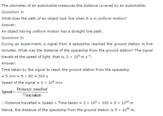 NCERT Solutions Class 9th Science Chapter 8 Motion