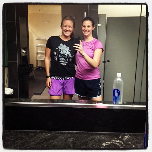 Opposites attract at the work gym with @ejcan! #proof #fitfluential