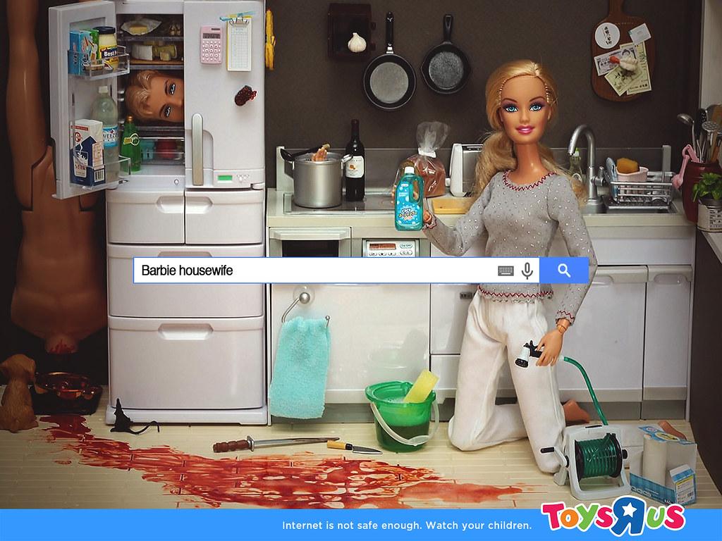 Toy's R us Internet - Internet is not safe enough Barbie