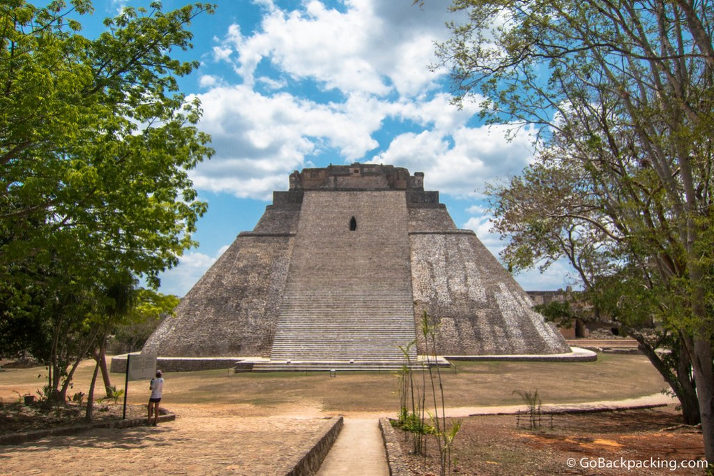 The initial view, upon entering Uxmal, is the east view of the House of the Magician
