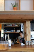 Mits behind the bar | Kuma Tofino