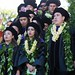 """Members of the 2013 William S. Richardson School of Law graduating class receiving Native Hawaiian Law Certificates chant an oli for the assemblage at the school's commencement ceremony. May 12, 2013. (Photos by Mike Orbito)  For more photos go to the <a href=""""https://picasaweb.google.com/lawschoolphotos/20130512ToastAndCommencement?authuser=0&authkey=Gv1sRgCLySgIWT2rmxKg&feat=directlink"""" rel=""""nofollow""""> School of Law's Picasa album</a>"""