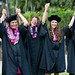 """William S. Richardson School of Law graduates raise their arms in victory as they sing Hawaii Aloha at the end of the school's commencement ceremony. May 12, 2013. (Photos by Mike Orbito)  For more photos go to the <a href=""""https://picasaweb.google.com/lawschoolphotos/20130512ToastAndCommencement?authuser=0&authkey=Gv1sRgCLySgIWT2rmxKg&feat=directlink"""" rel=""""nofollow""""> School of Law's Picasa album</a>"""