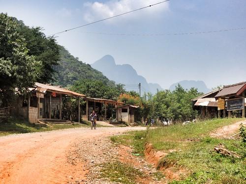 Dorf nahe Vang Vieng