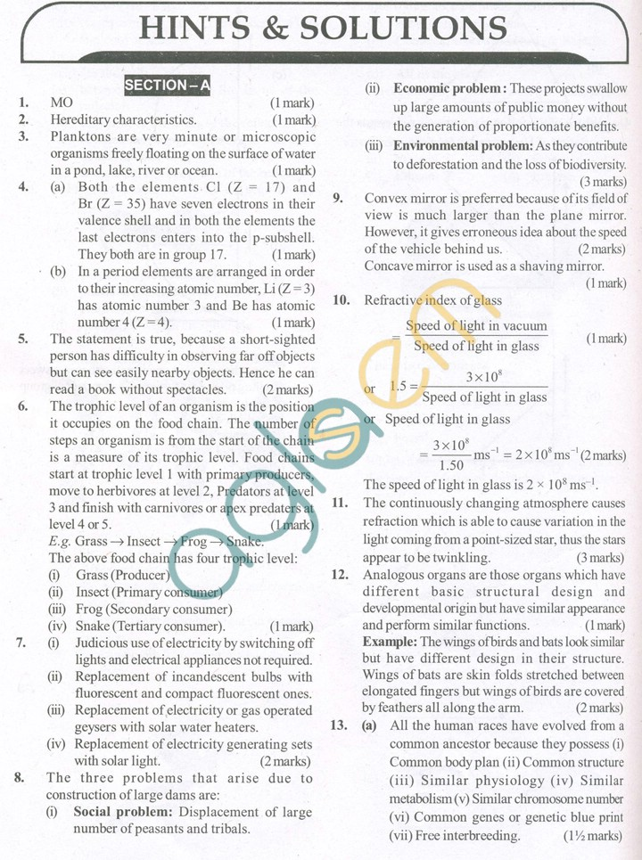 science papers for class 10 sa2 Cbse class 10 science sample papers, class 10 science question papers, class 10 science model papers,class 10 science test papers, class 10 science guess papers and more.