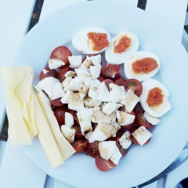 Caprese Mozzarella och tomat