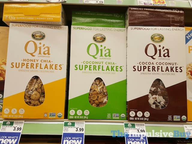 Nature's Path Qi'a Superfood Superflakes (Honey Chia, Coconut Chia, and Cocoa Coconut)
