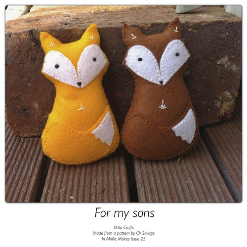 Felt Foxes by MandyMade
