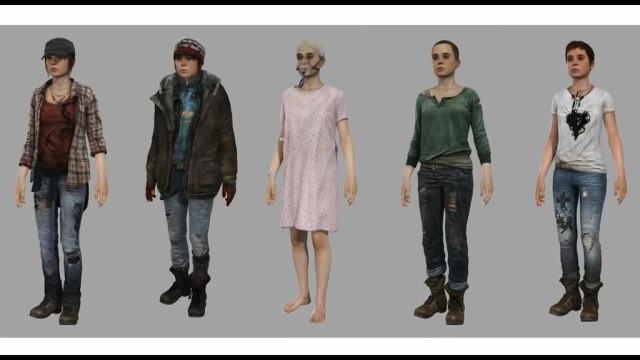 Beyond: Two Souls 3D character art created by Quantic Dream