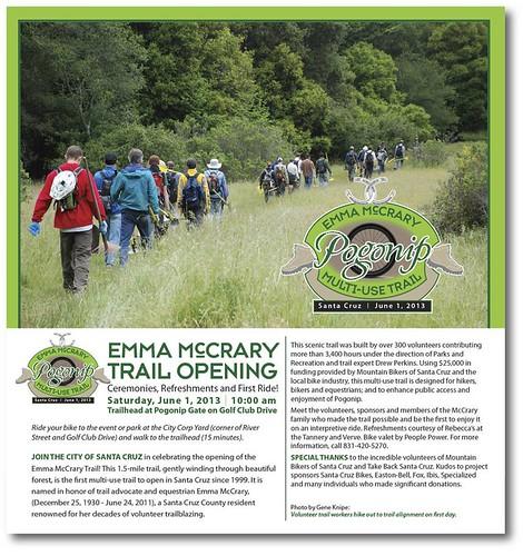 Emma McCrary trail opening Santa Cruz