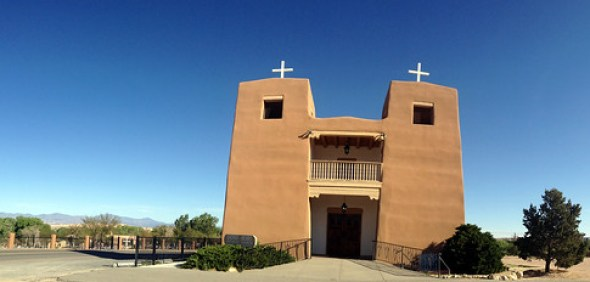 8873339310 6fa3fc0f4d Sacred Heart Church Nambe Pueblo New Mexico Indian Reservation Nuestra Senora De Guadalupe Del Valle De Pojoaque High Road Taos IMG 7884