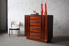 Wicked Westnofa Mid Century Modern Rosewood Dresser Gentlemens Chest (Norway, 1960s)