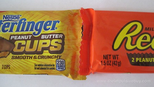 Nestle Butterfinger Peanut Butter Cups The Duel of Geometric Candy