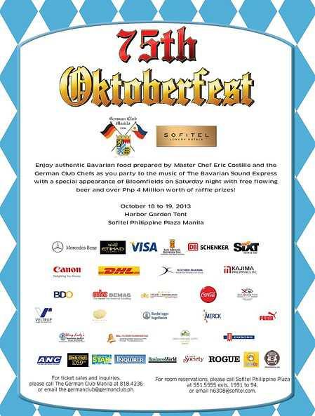 75th Oktoberfest with Sofitel Philippine Plaza Manila & the German Club Manila