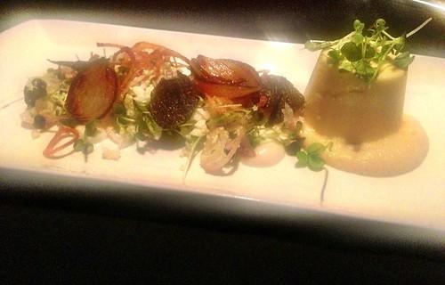 cauliflower custard, shaved manjimup truffle, smoked baby onion & turnip