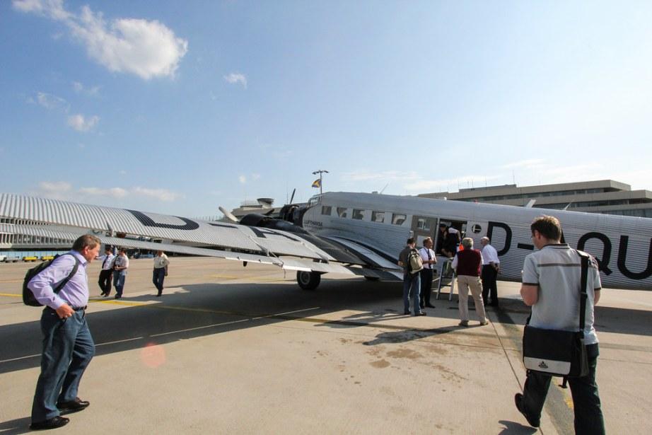 Boarding the Ju-52
