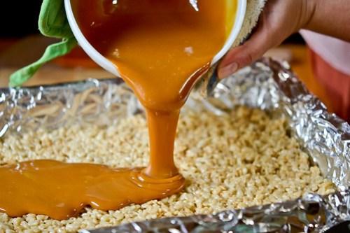 Chocolate-Caramel Crispy Treats-4