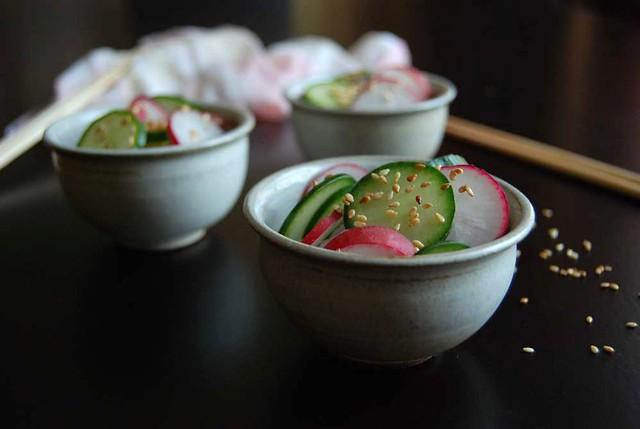 cuke radish asian salad
