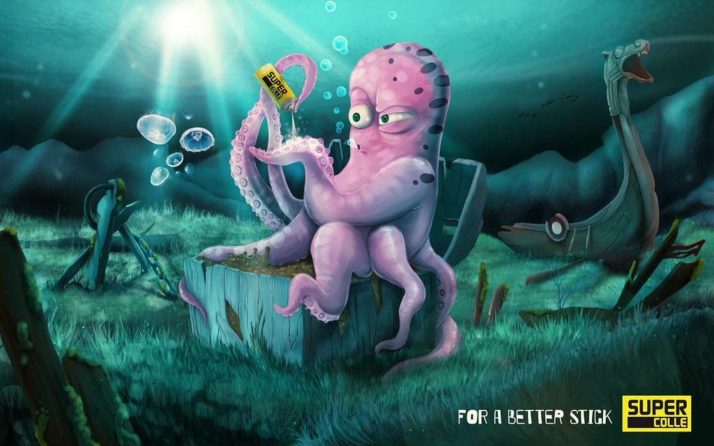 Supercolle - Pieuvre