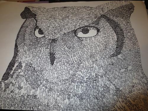 Noah's Art Project Owl
