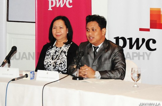 Judith Lopez and Atty. Alex Cabrera during the press conference for Philippine Gems announcement held at Hotel Intercontinental Manila.