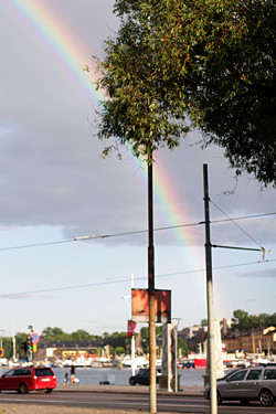 rainbow in stockholm