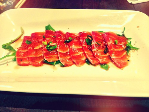 Mr Munchies salmon sashimi